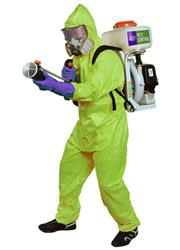 Spraying A&H Man